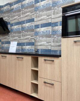 enkelwandige houtlook keuken